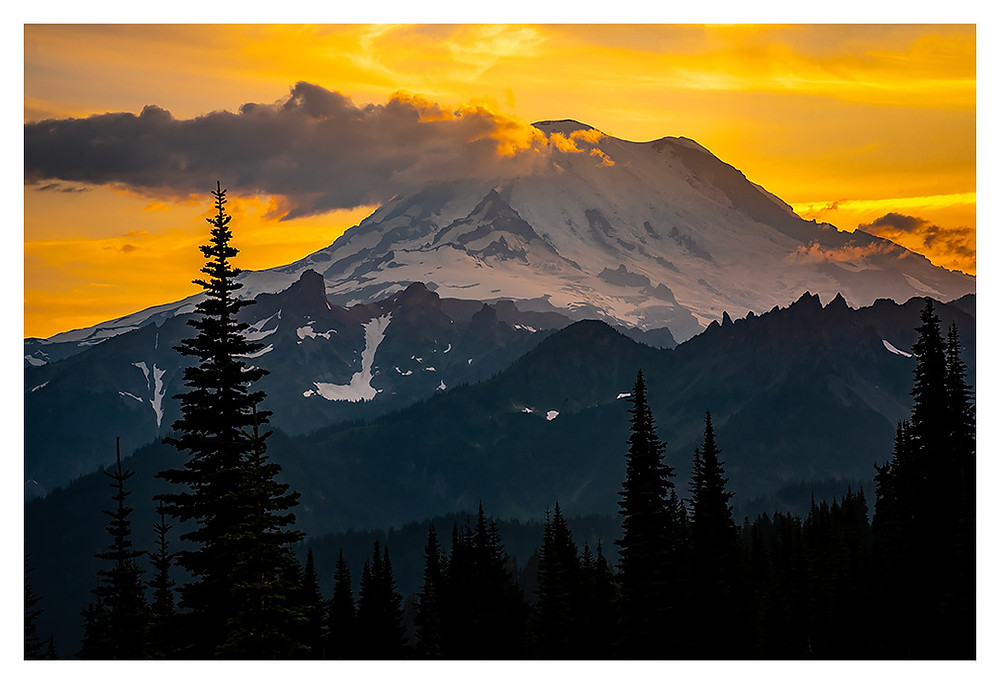 Sunset at Mt. Rainier, Copy-write Dan