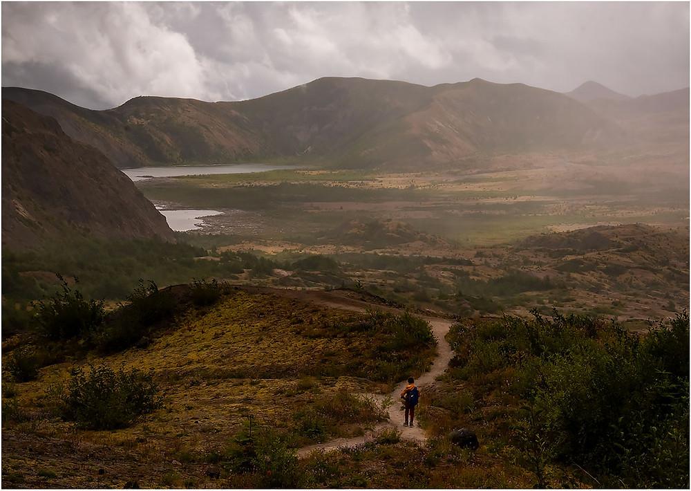a lone hiker