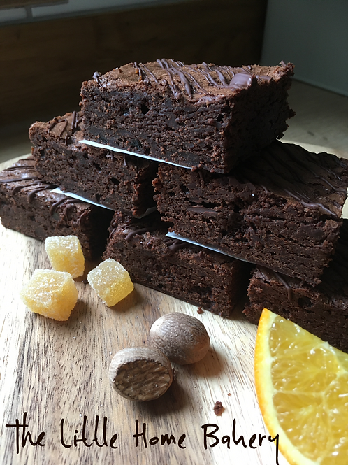 Winter Spiced Brownies (box of 6)