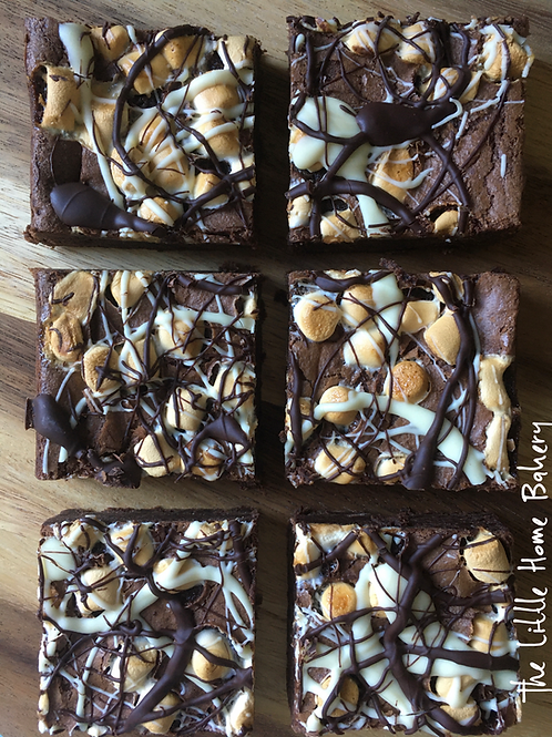 Toasted Marshmallow Belgian Chocolate Brownies (Box of 6)