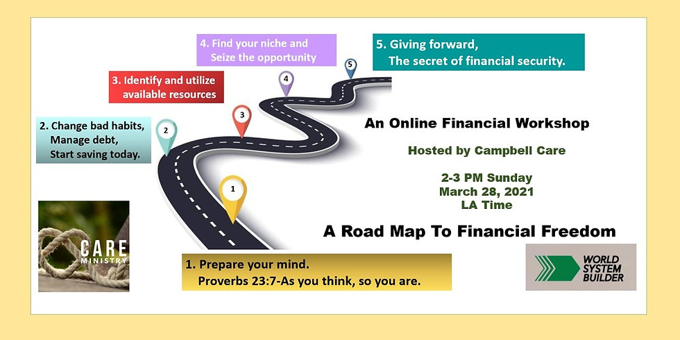A Road Map To Financial Freedom Workshop