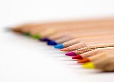 dicas de lápis coloridos