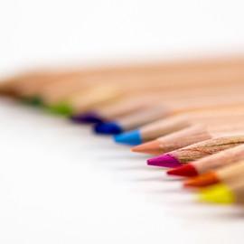 Farbige Bleistiftspitzen