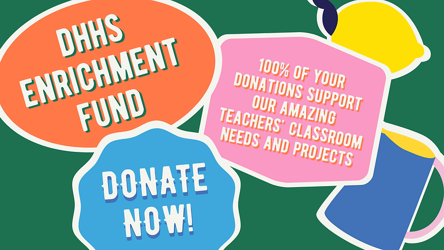 Banner  Colorful Donate to Our Enrichmen