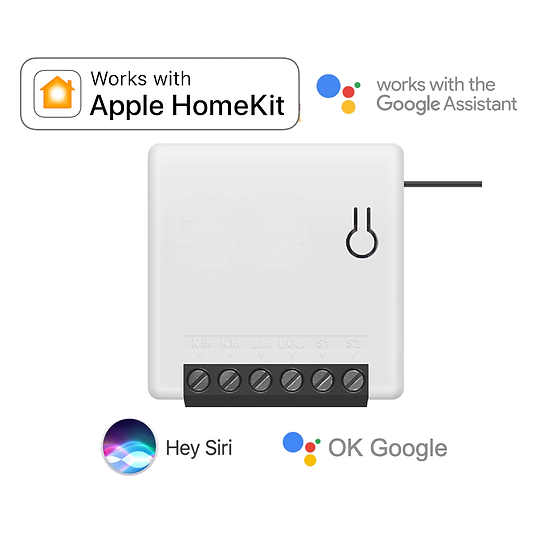 Mini Switch Relay For Apple HomeKit Smart Home WiFi Google Assistant Timing