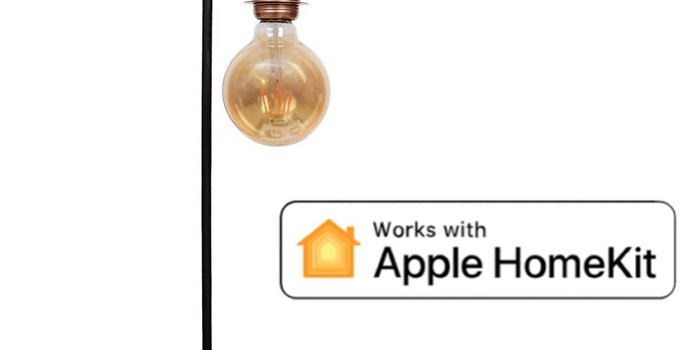 Rustic Table Lamp With Apple HomeKit SMART+ LED Globe Form Lamp  L form