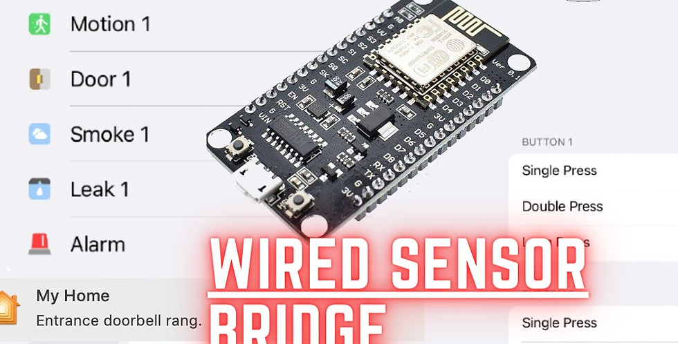 Sensor Bridge Wired Alarm For Apple HomeKit Motion Door Smoke Leak Doorbell