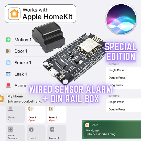Alarm For Apple HomeKit Smart Home Motion Wired Security Doorbell Scene Button