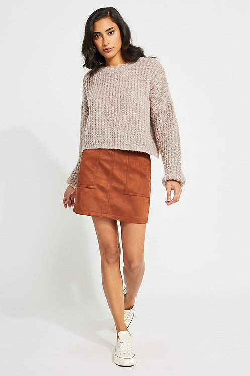 Parvene Sweater in Heather Mink