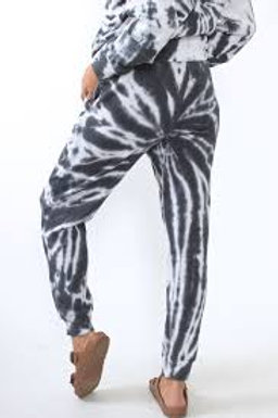 Grey and White Tie Dye Jogger