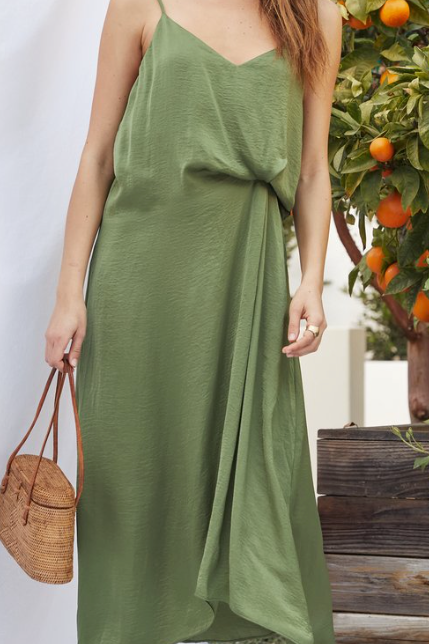 Rowan Twist Dress - Green