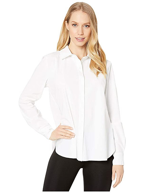 White Connie slim fit button down