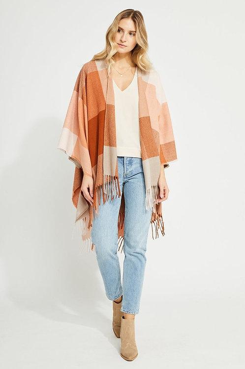 Cinnamon Check Kimono