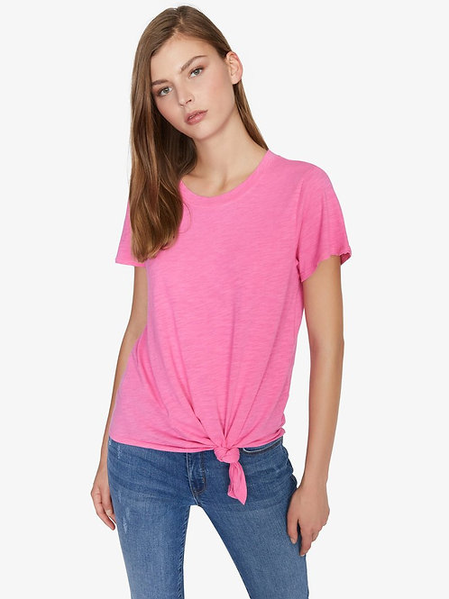 Perfect Knot Tee in Hot Pink