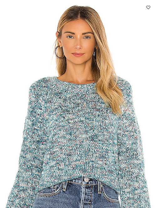 Kaytie Washed Teal Sweater