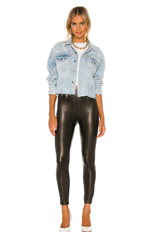 Leather like skinny pant