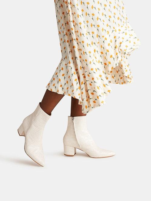 bel ivory croc boot