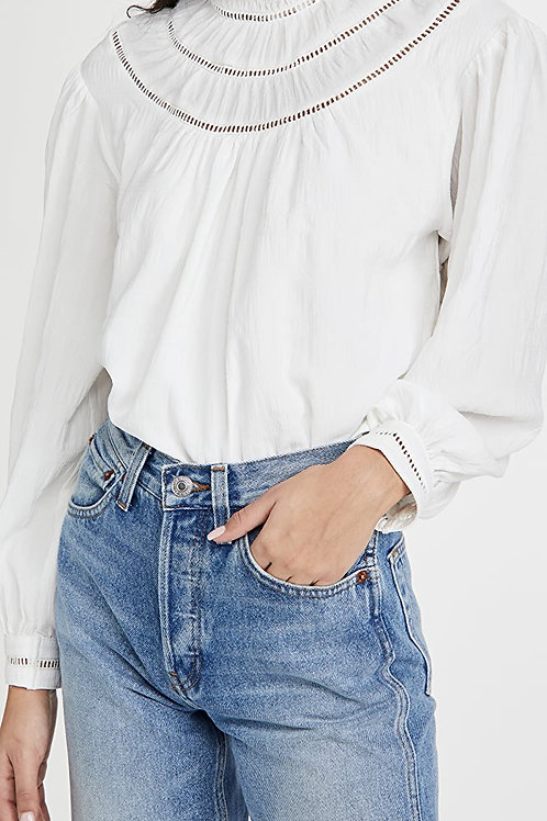 Smocked Neck blouse