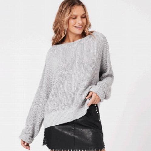 Jayden Knit Sweater Grey