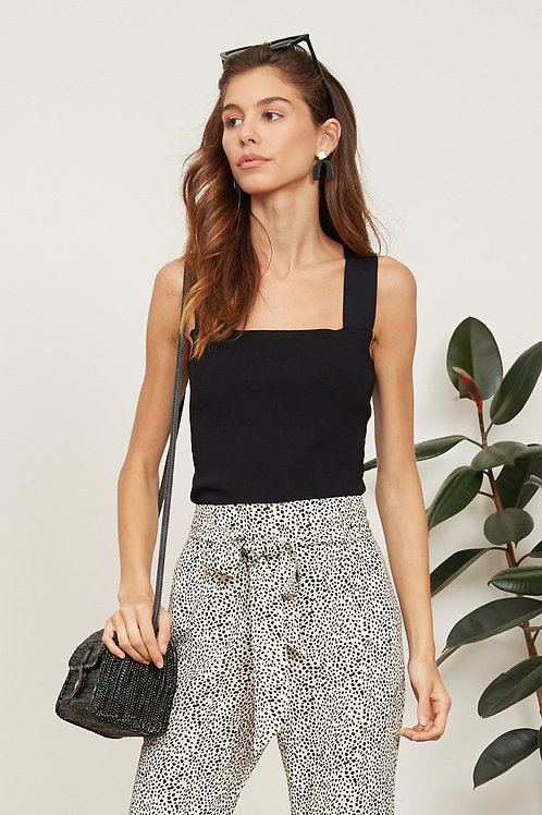 Jasmine Knit Top Black