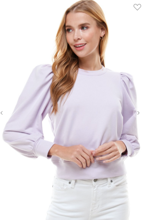 Lavender Ruffle Sweatshirt