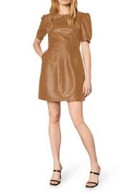 maggie dark camel dress