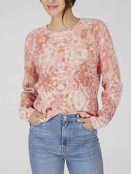 Peach Haze Multi Printed Crewneck Sweater