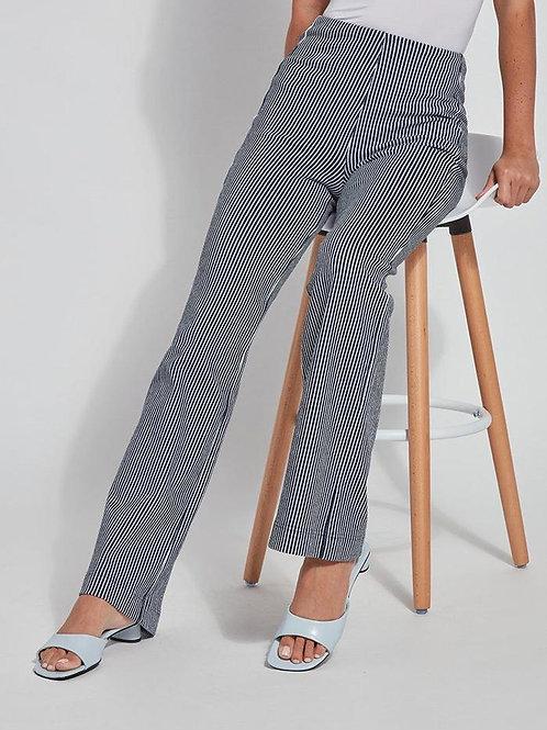 Indigo Pinstripe Denim Trouser