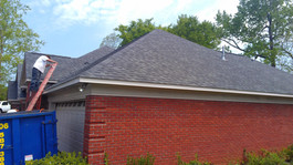 Shadow Gray shingle roof tear off disposal replacement roof project