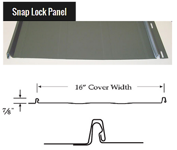 Snap Lock Metal Roof Panel
