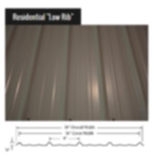 Residnetial Low Rib Metal Roof Panel