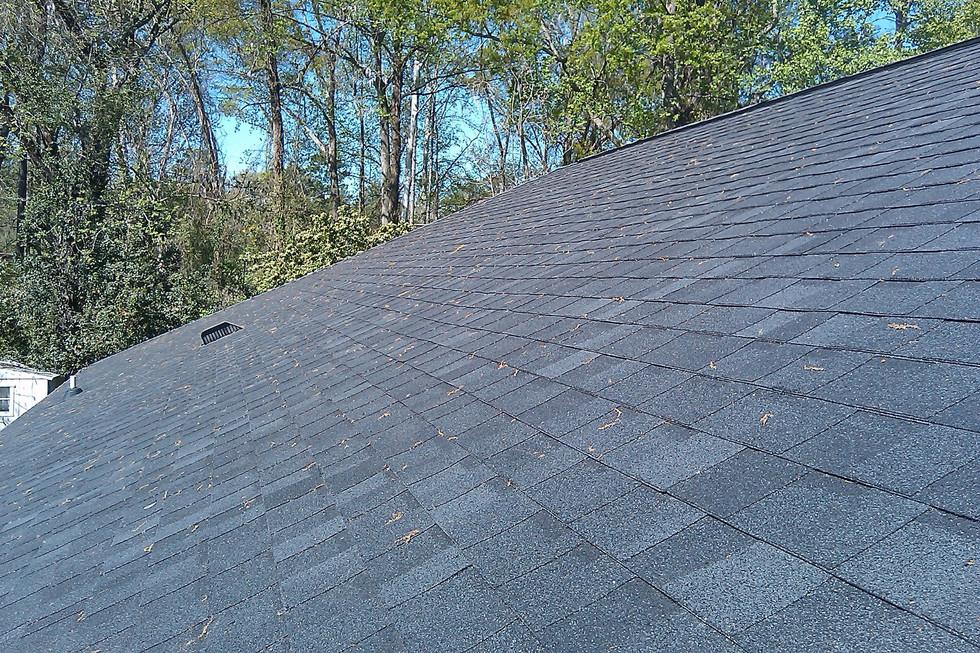 straight line shingle roofing