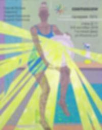 галерея ЛУЧ, cosmoscow 2019, Кипятков, Брызги, девушка, светоотражающие материалы, reflective
