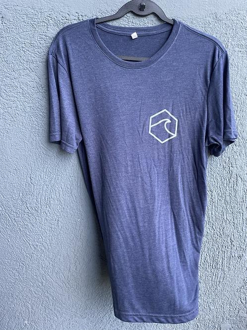 Grey Blue Basic TShirt