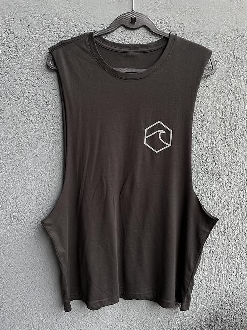 Black Basic Muscle T-Shirt