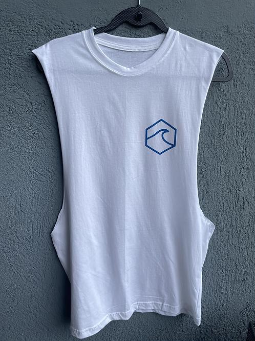 White Basic Muscle T-Shirt