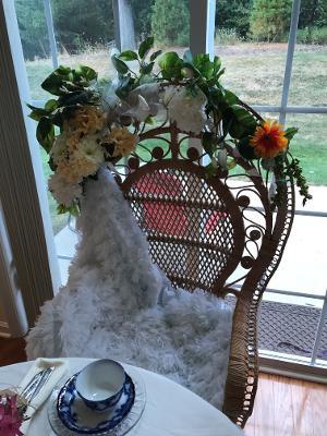 grace shower brides chair