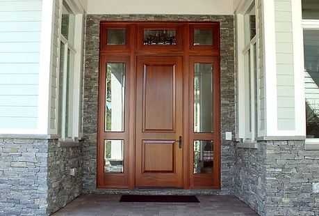 custom wood entryway
