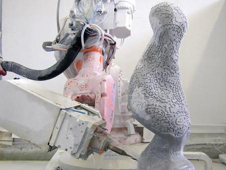 How Would Michelangelo's Sculpture Look if He'd Had Robot Apprentices?