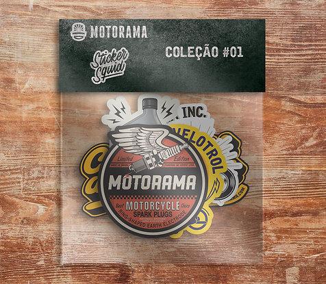 Pack Adesivos Motorama - Coleção 1