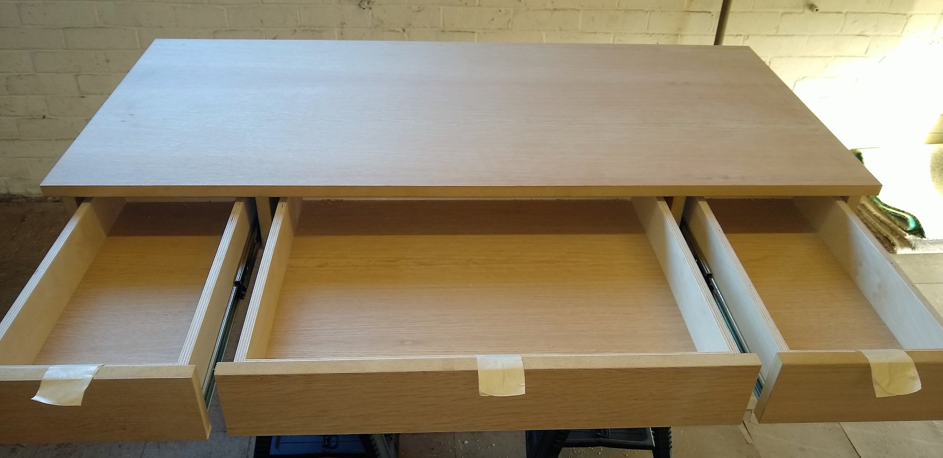 Commissioned oak desk