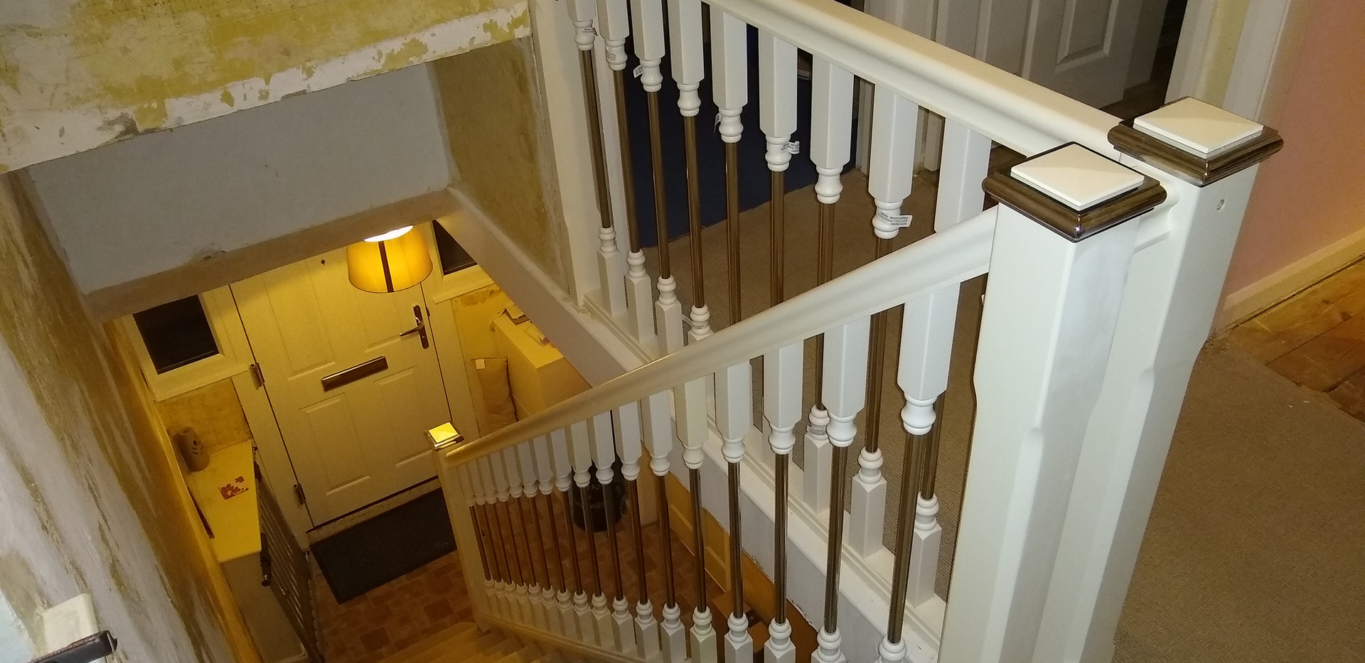 New staircase balustrade