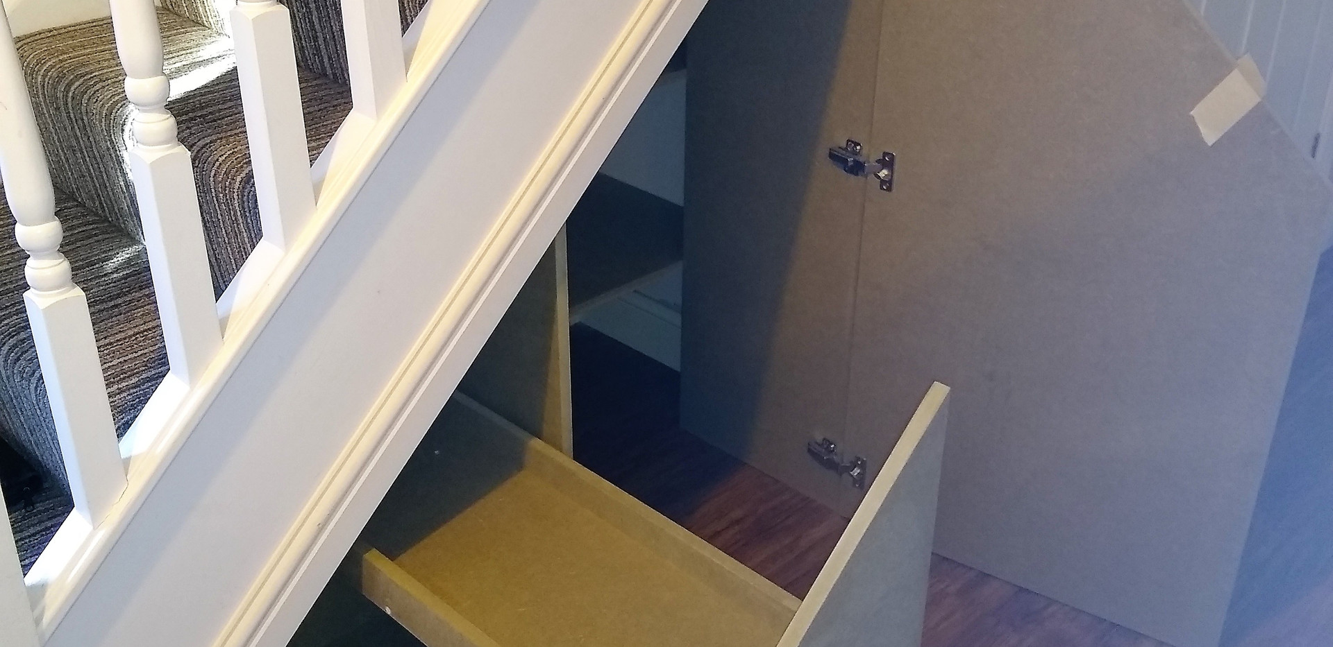 Under stair storage with a difference