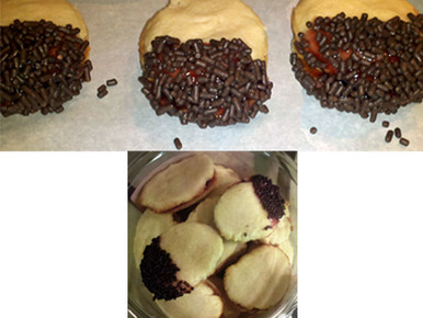 Italian Butter Cookies w/Raspberry Jam and Sprinkles