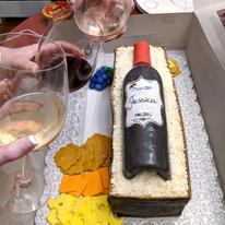 Wine & Cheese Birthday cake- cheers!