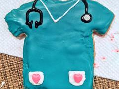 Nurse's Valentines Day Cookies