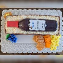 Wine & Cheese Birthday cake- top view