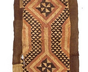 Congolese textiles and Dominoté Paper use the same graphic symbols...