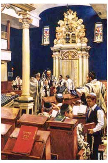 Synagogue by Itzhok Holtz Numbered & Signed Limited Edition