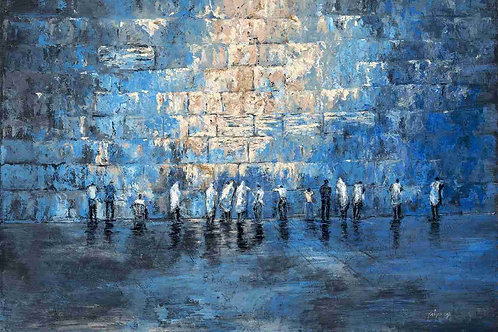 Western Wall in blue 2